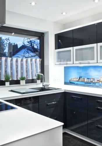 Küchenrückwand aus Glas mit Motiv